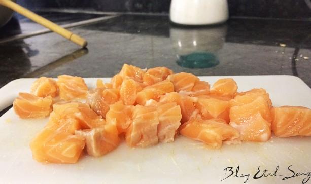 Pasta con alcachofa y salmón